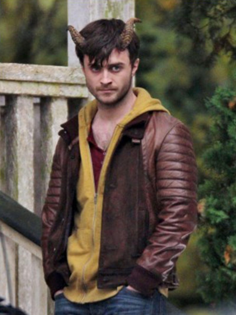 Daniel Radcliffe Horns Leather Jacket