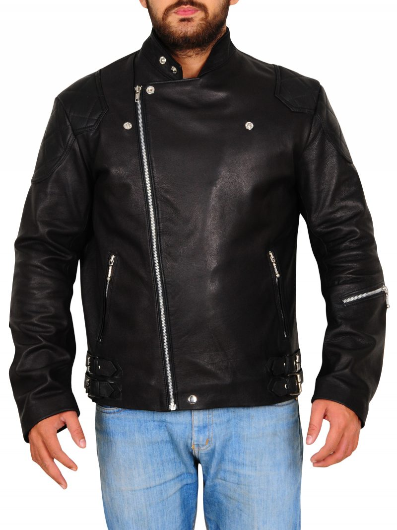Metal Gear Black Biker Jacket
