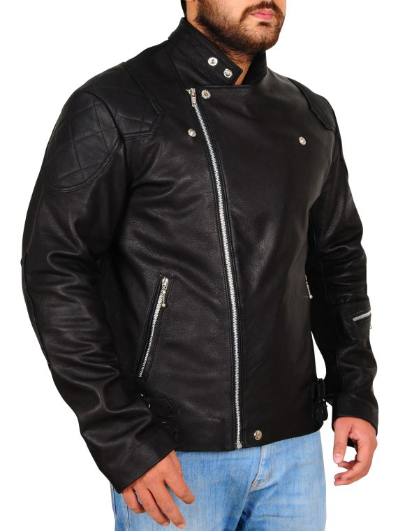 Metal Gear Solid Black Biker Black Jacket