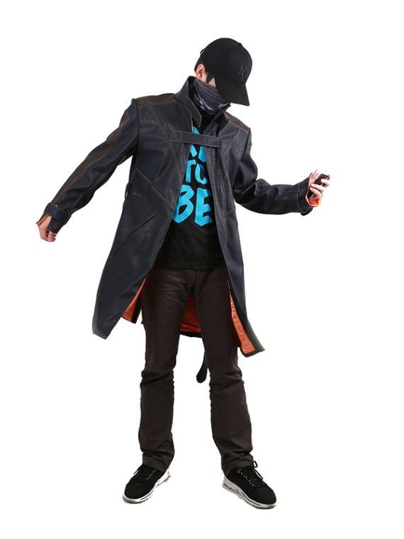 Aiden Pearce Watch Dogs Long Fur Coat