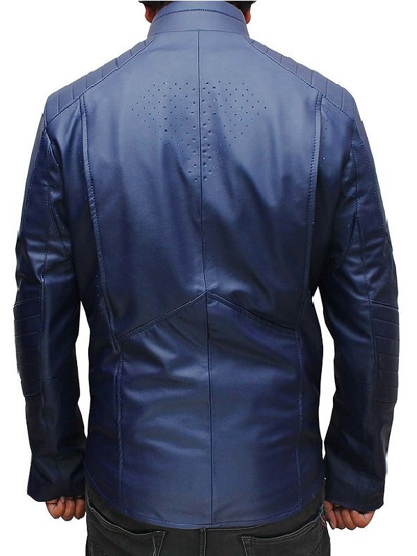 Superman Blue Leather Jacket