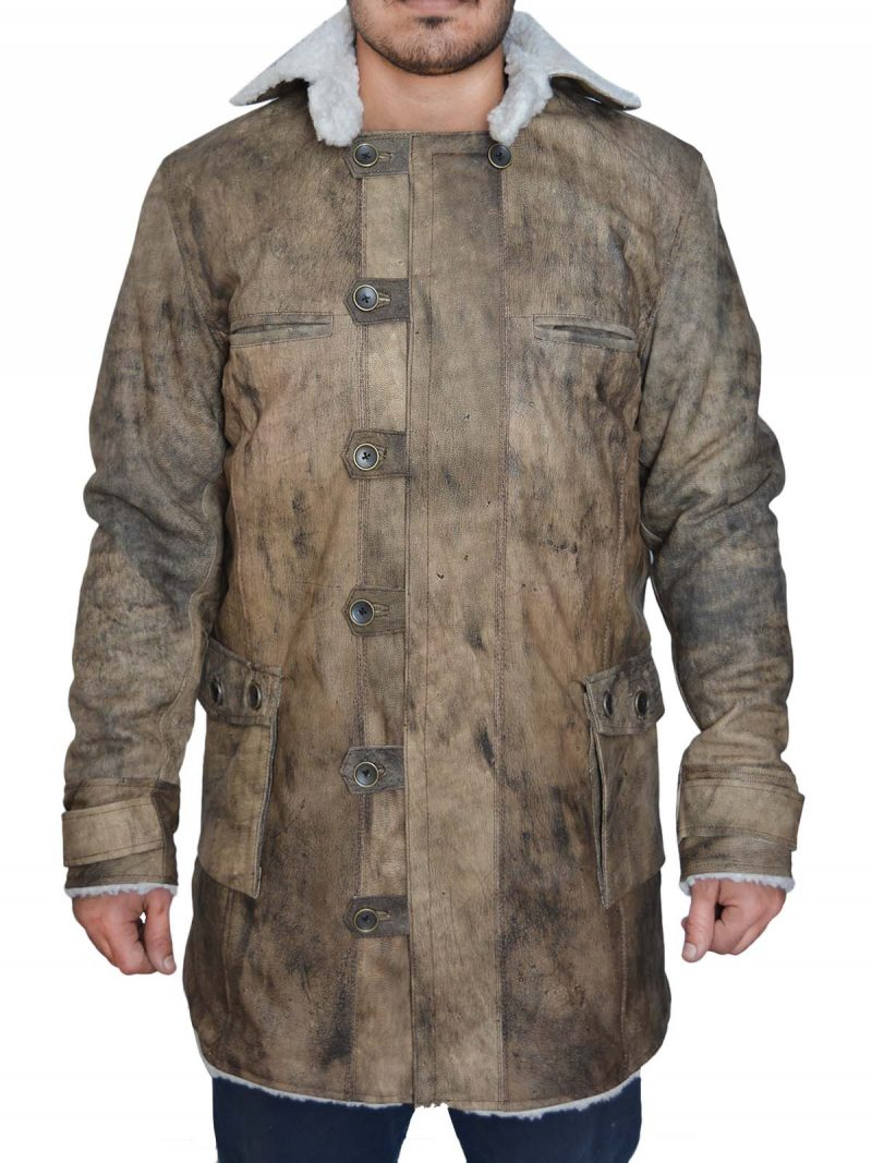 The Dark Knight Rises Brown Distressed Coat