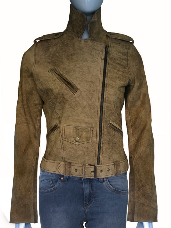 Star Michelle Rodriguez Suede leather Jacket