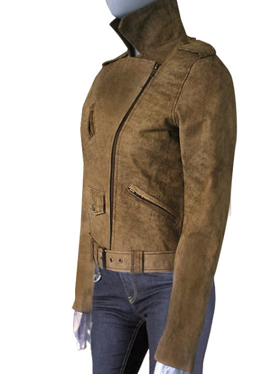 Michelle Rodriguez Suede leather Jacket