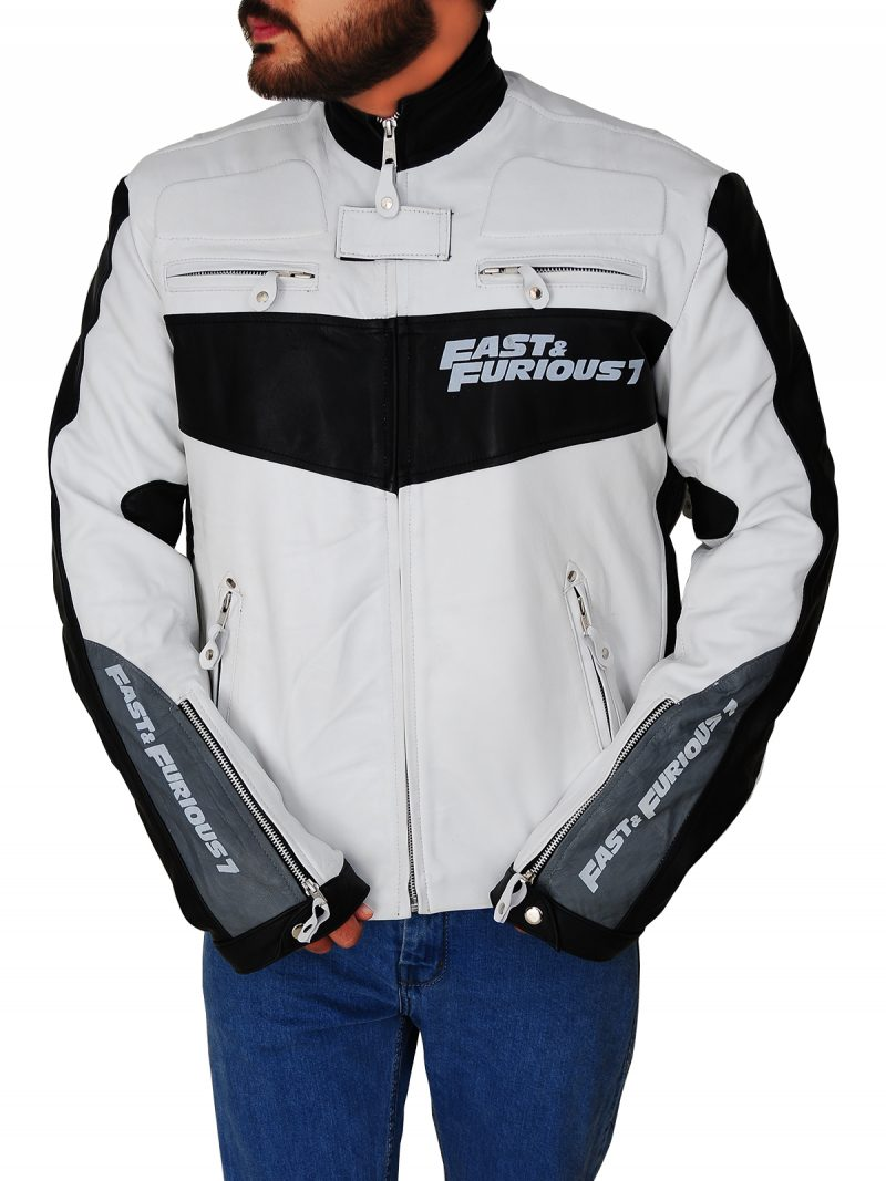 Vin Diesel Fast And Furious 7 Black and White Jacket,