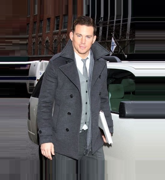 Channing Tatum Grey Coat