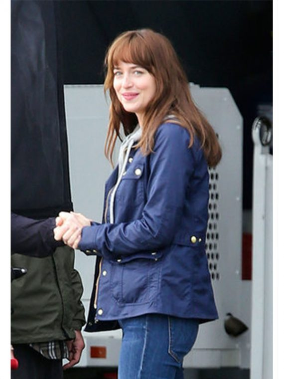 Dakota Johnson Blue Jacket