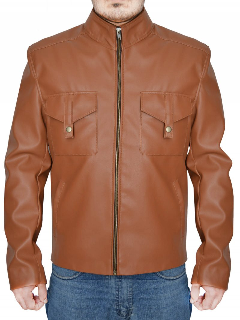 Dwayne Johnson Stylish Brown Jacket