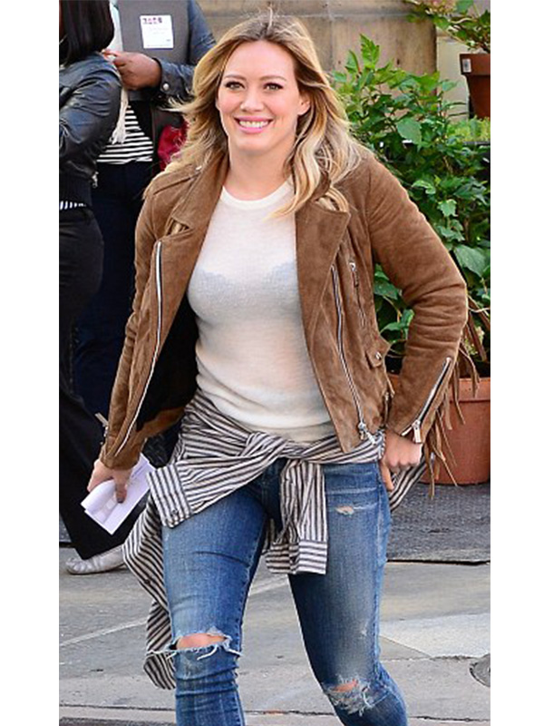 Hilary Duff Marvelous Brown Jacket