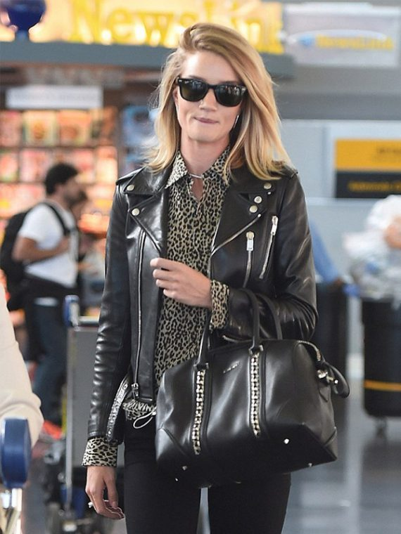 Rosie Huntington Impressive Black Jacket