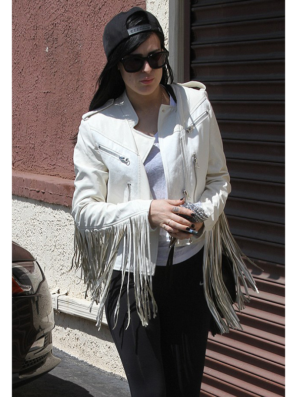 Rumer Willis White Jacket