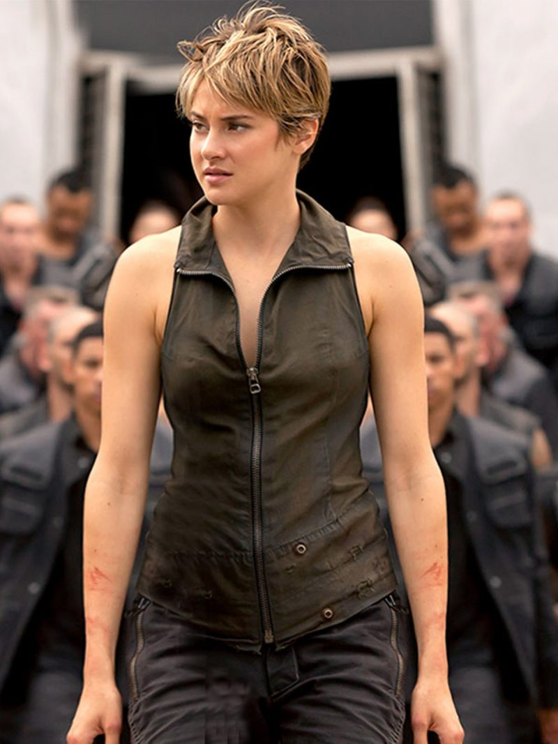 Shailene Woodley Brow Leather Vest