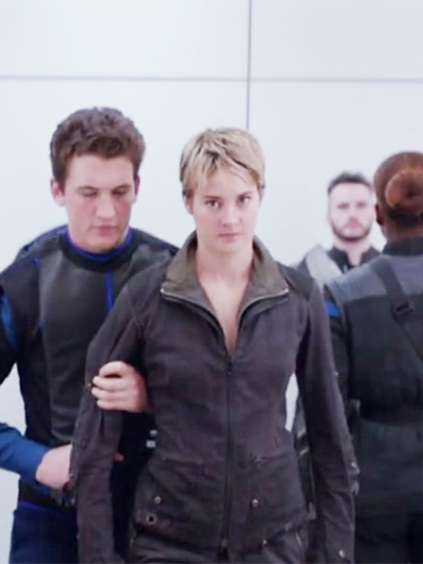 Shailene Woodley Trendy Double Collar Jacket