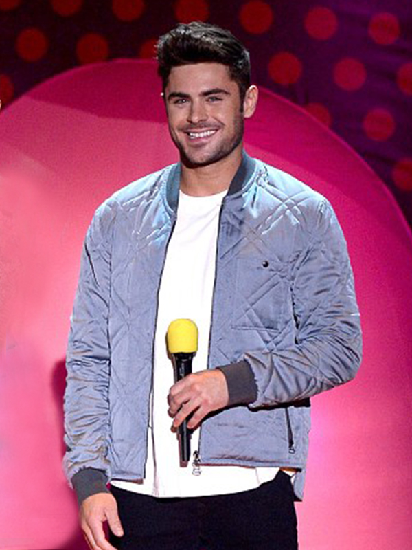 Zac Efron Light Grey Jacket