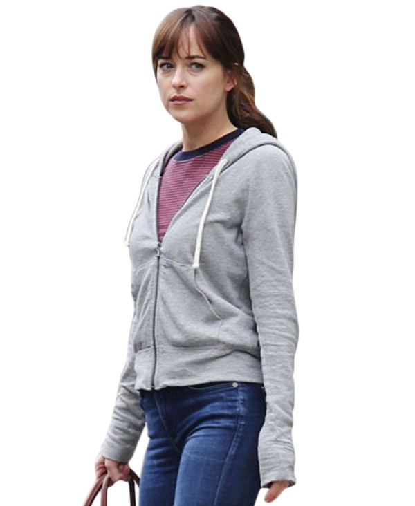 Dakota Johnson Grey Hoodie