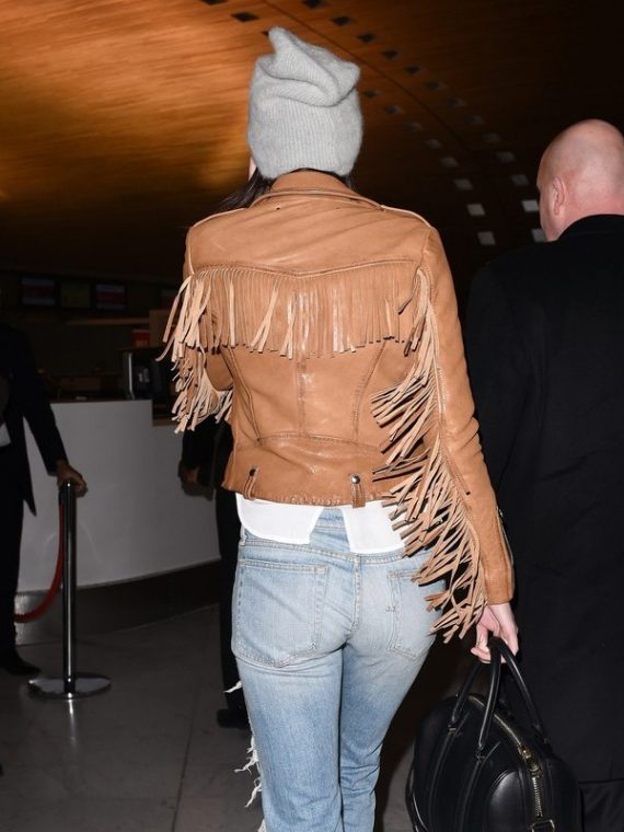 Kendall Jenner Brown Fringe Jacket