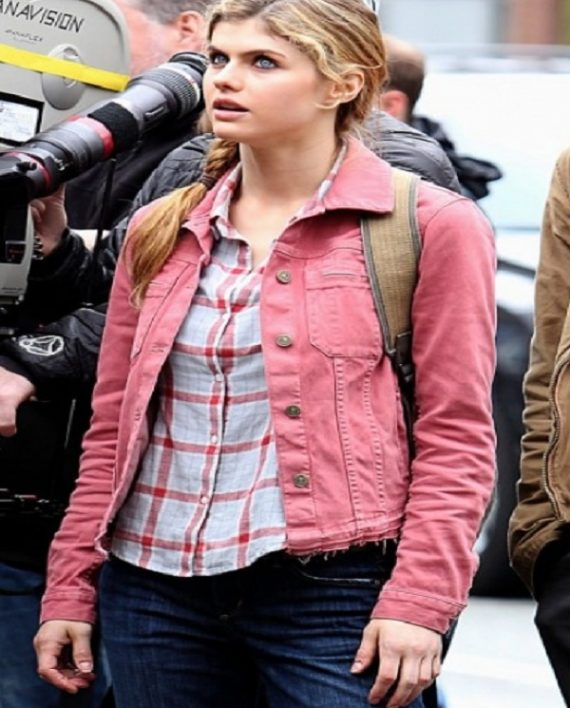 ALEXANDRA DADDARIO PERCY JACKSON SEA OF MONSTERS JACKET
