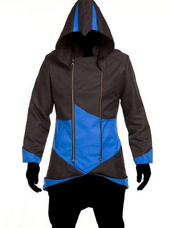 Assassinas Creed 3 Black And Blue Coat Jacket