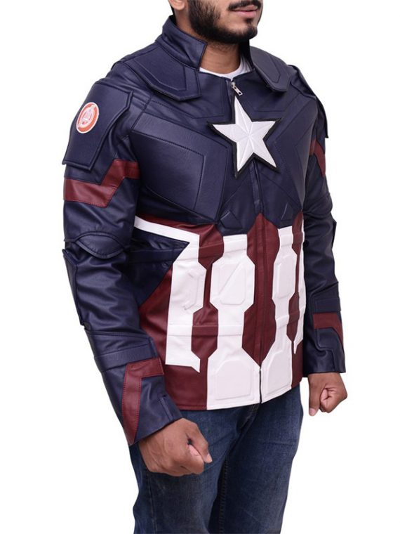 Avengers Age Of Ultron Captain America Leather Jacket