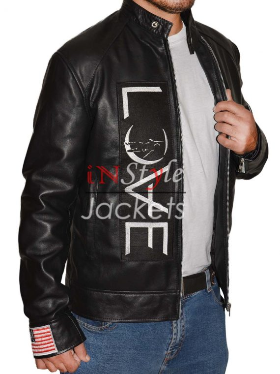 Black Love Leather Jacket By Tom Delonge