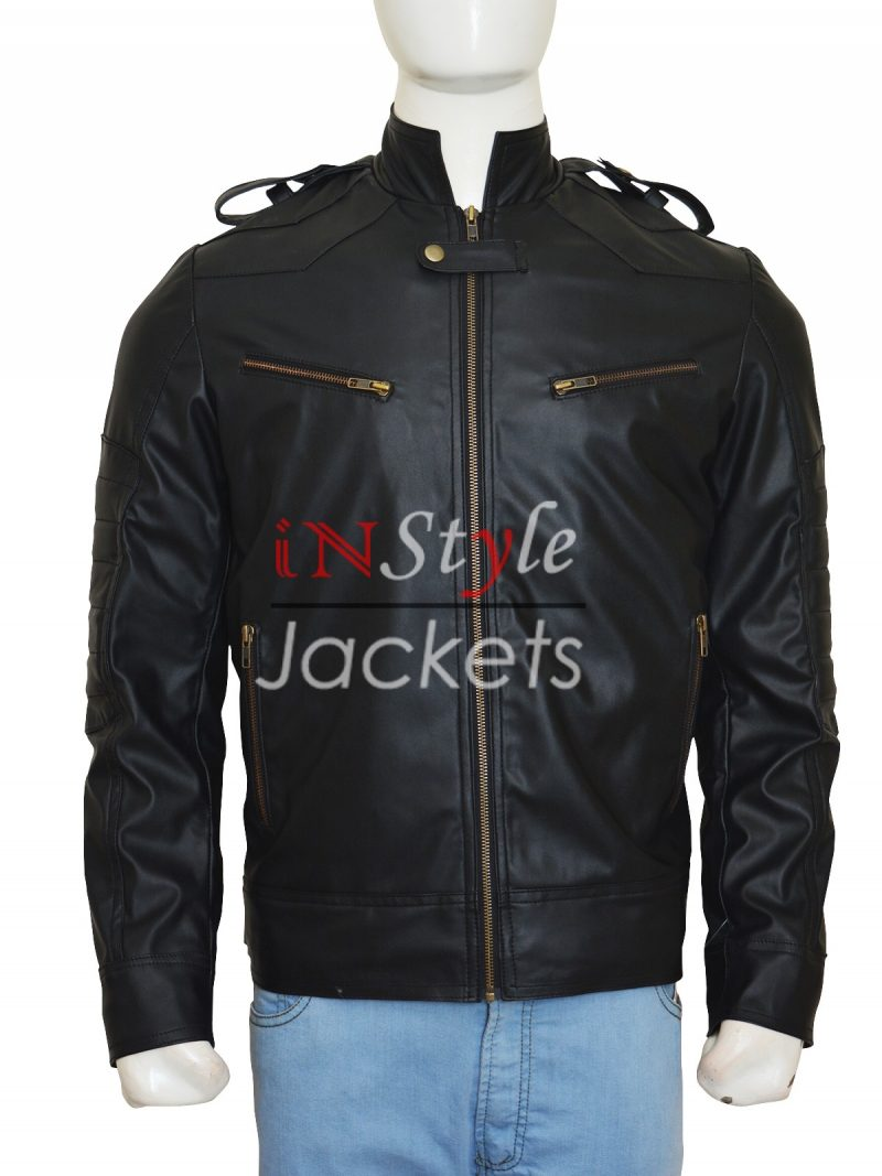 Breaking Bad Season 5 Aaron Paul Black Leather Jacket