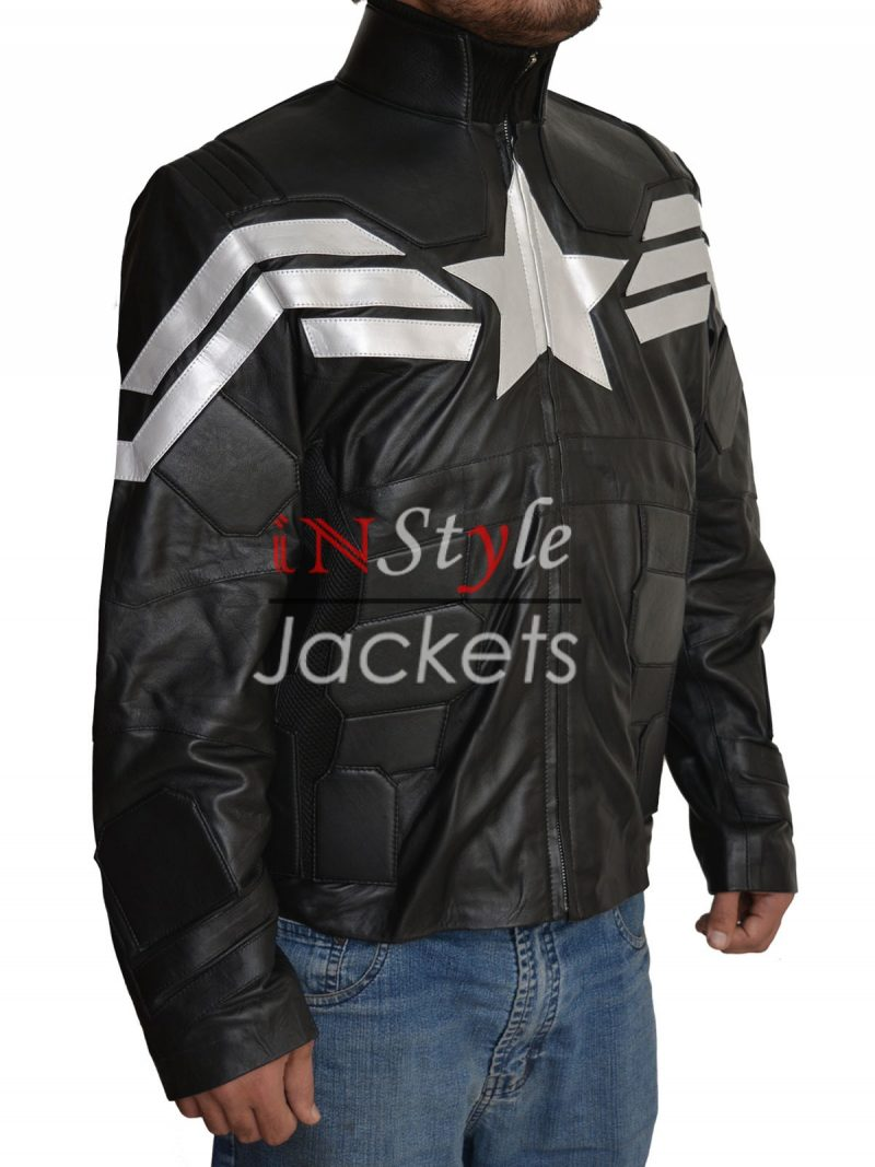 Captain America Black And White Jacket