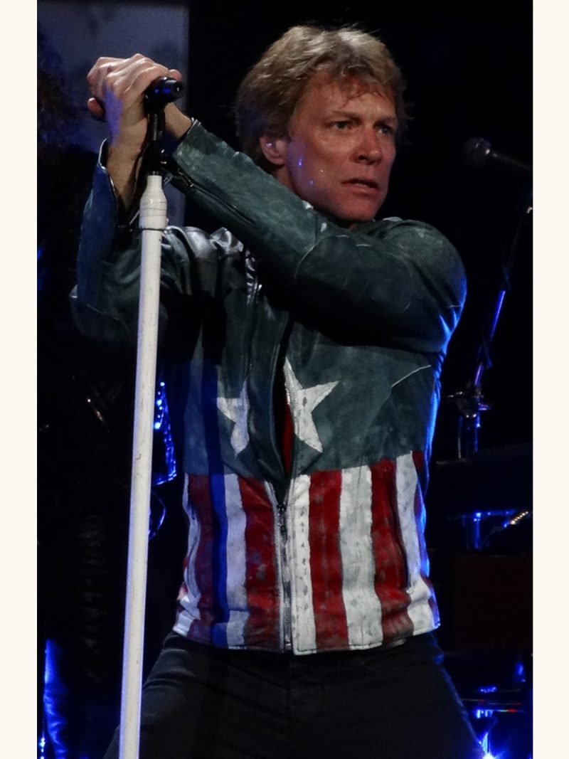 Captain America Jon Bon Jovi Concert Leather Jacket