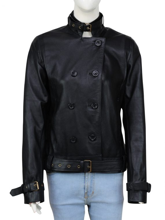 Captain America The Winter Soldier Black Widow Chic Leather Jacket