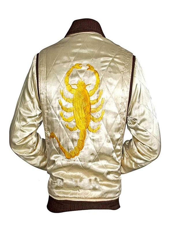 Movie Drive Scorpion Ryan Gosling Satin Jacket