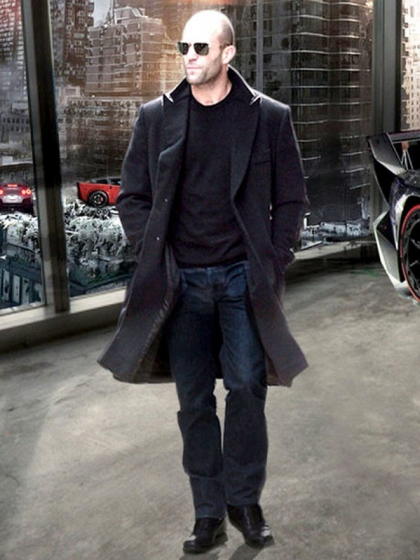 Jason Statham Furious 7 Wool Coat