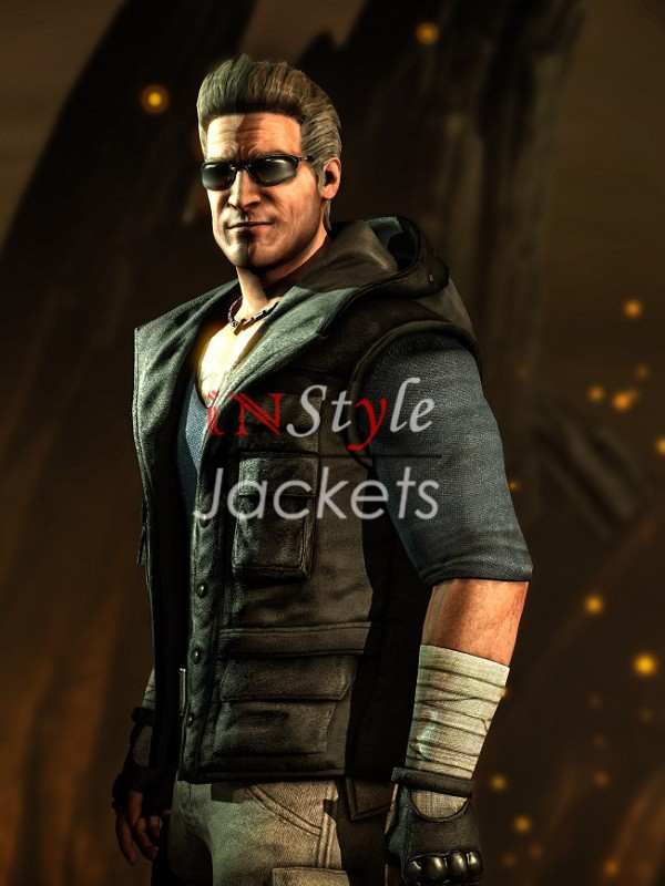 Johnny Cage Mortal Kombat Black Vest