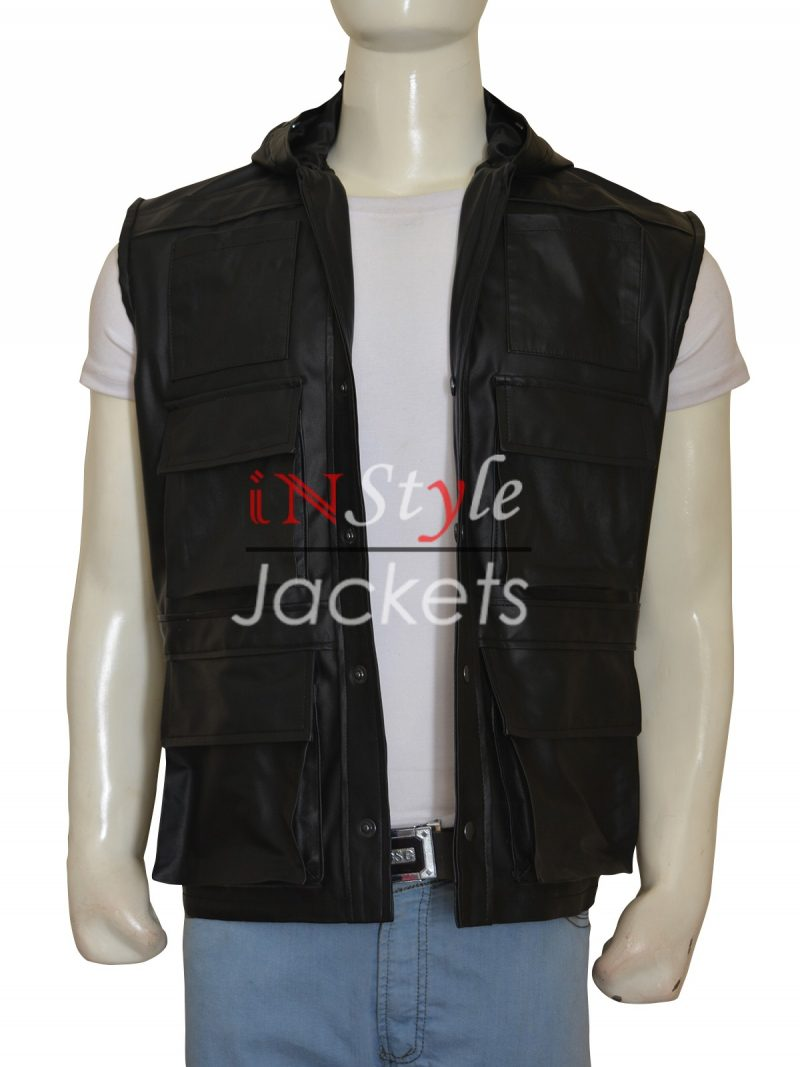 Johnny Cage Mortal Kombat Video Game Leather Vest