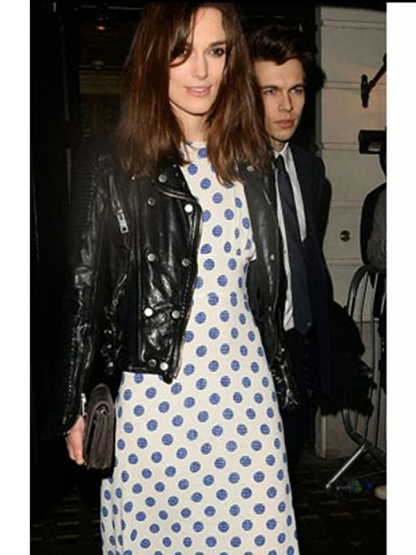 Keira Knightley Black Biker Jacket