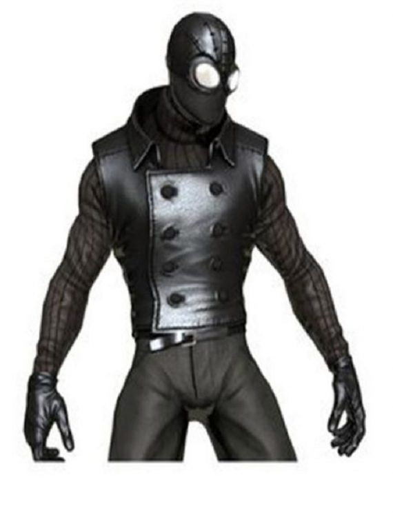 Macho NoirSpider Man Black Leather Vest