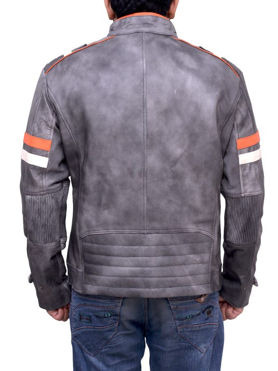 Men Retro Motorcycle Jacket