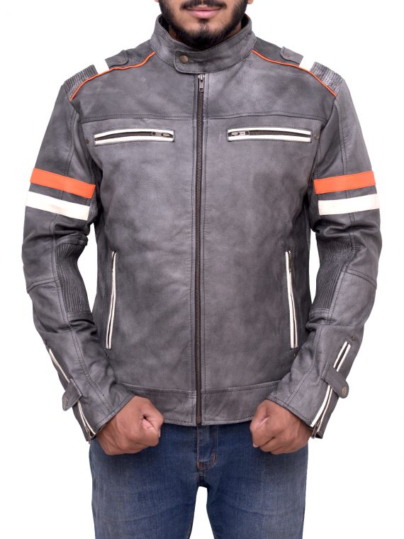 Men Retro Racing Jacket