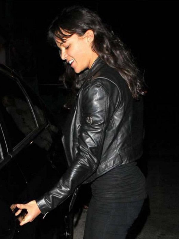Michelle Rodriguez Fast And Furious 7 Black Jacket