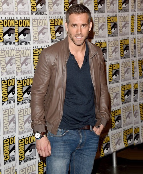 RYAN REYNOLDS BROWN LEATHER JACKET