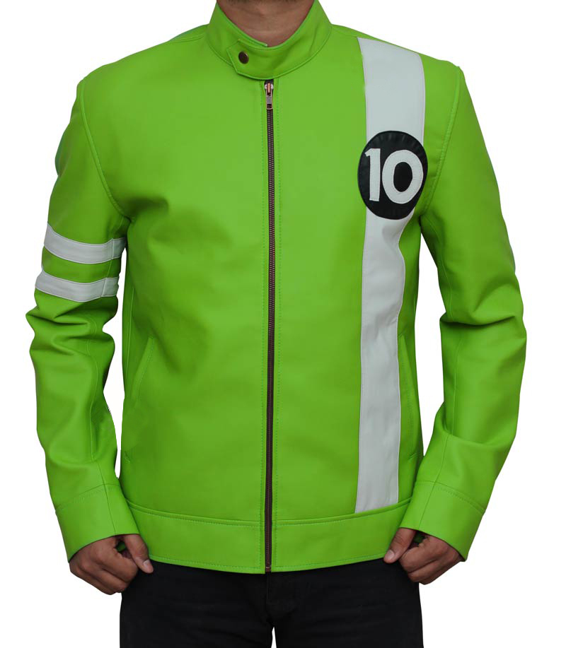 Ryan Kelley Green Jacket, Ben 10 Movie Jacket, Movie Jacket,