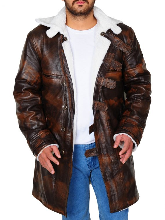 Tom Hardy Bane The Dark Knight Rises Distressed Leather Coat