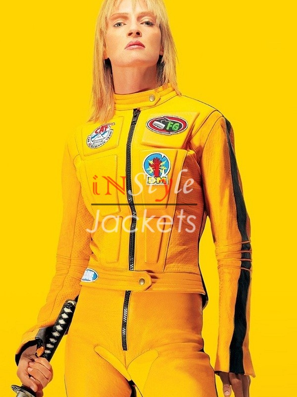 Uma Thurman Kill Bill Leather Jacket