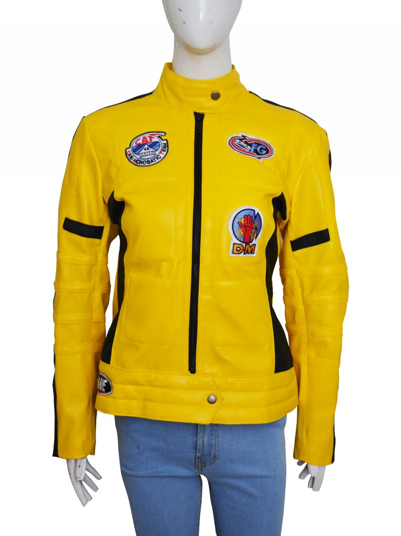 Uma Thurman Kill Bill Movie Leather Jacket