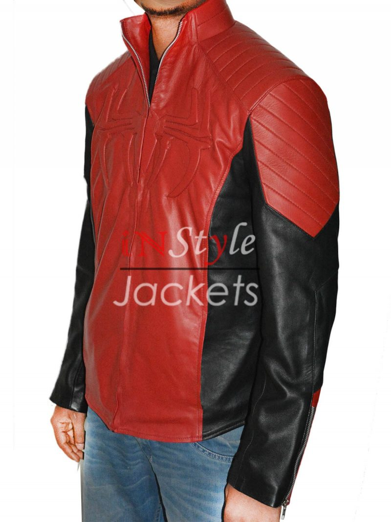 The Amazing Spiderman 2 Red And Black Jacket