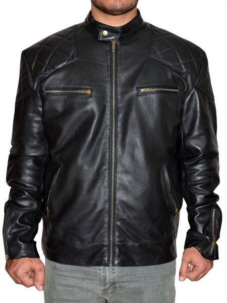 David Beckham, Black Leather Jacket,