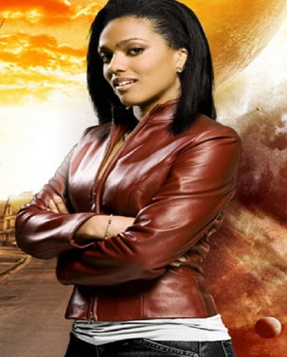 Freema Agyeman Doctor Who Martha Jones leather Jacket