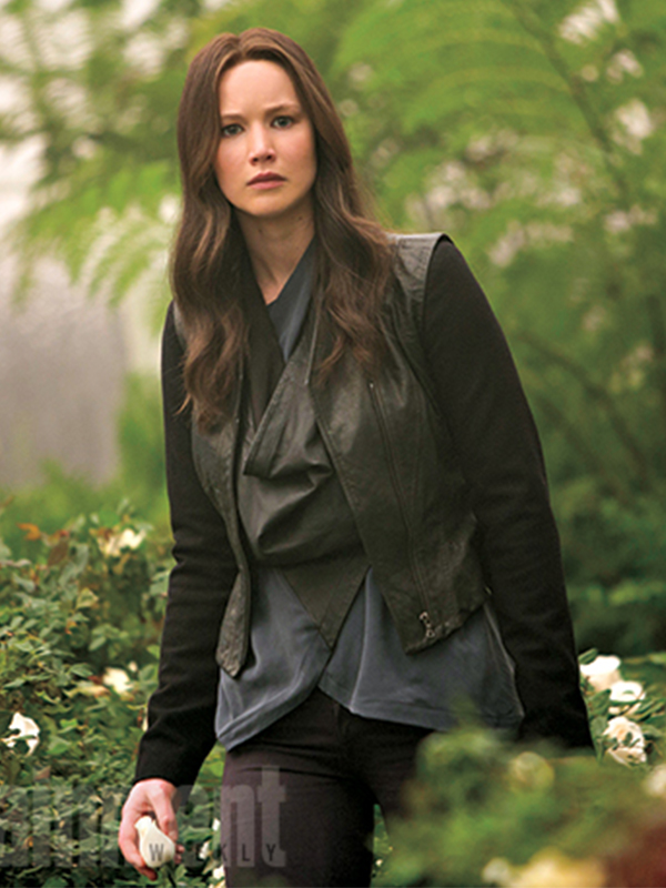 Jennifer Lawrence Hunger Games Mockingjay Leather Vest