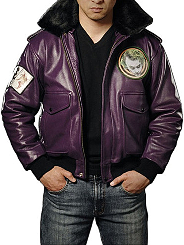 Batman Dark Knight Movie Joker Leather Jacket