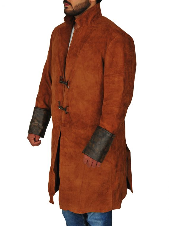 Nathan Fillion Firefly Captain Malcolm Leather Coat,