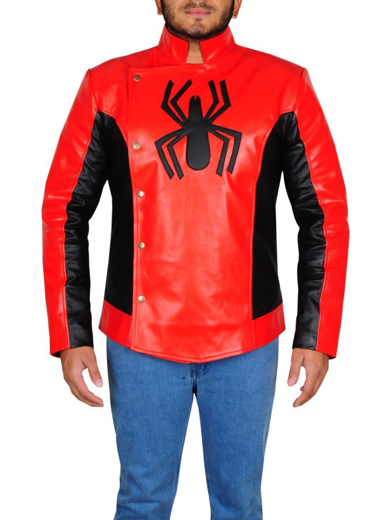 Peter Parker Spiderman Tobey Maguire Red Jacket (1)