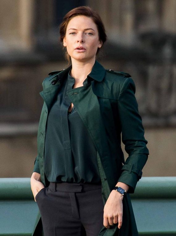 Mission Impossible 5 Rebecca Ferguson Green Coat